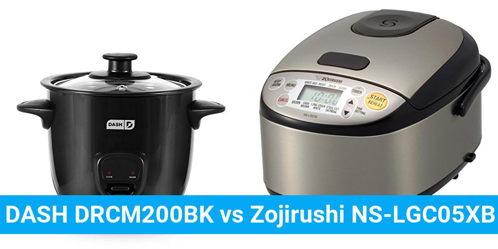DASH DRCM200BK vs Zojirushi NS-LGC05XB
