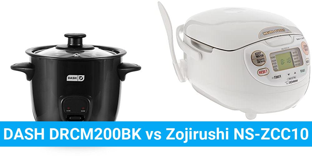 DASH DRCM200BK vs Zojirushi NS-ZCC10