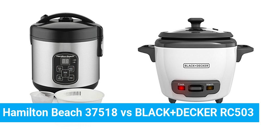Hamilton Beach 37518 vs BLACK+DECKER RC503
