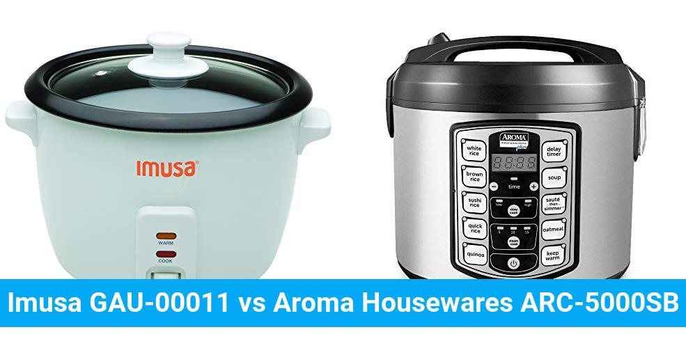 Imusa GAU-00011 vs Aroma Housewares ARC-5000SB