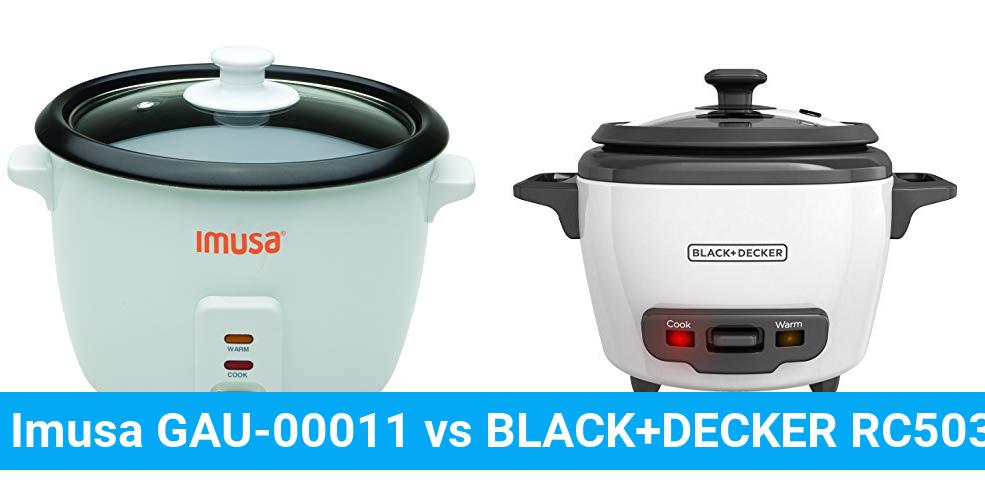 Imusa GAU-00011 vs BLACK+DECKER RC503