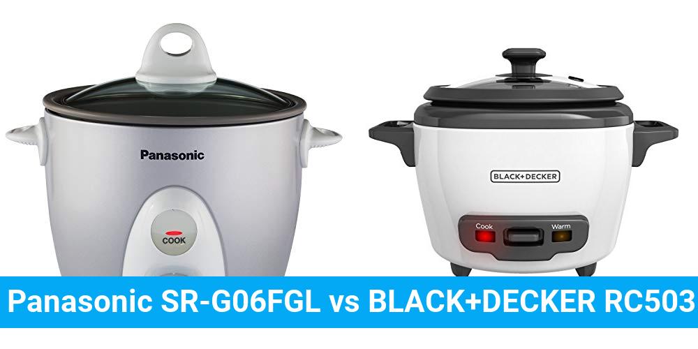 Panasonic SR-G06FGL vs BLACK+DECKER RC503