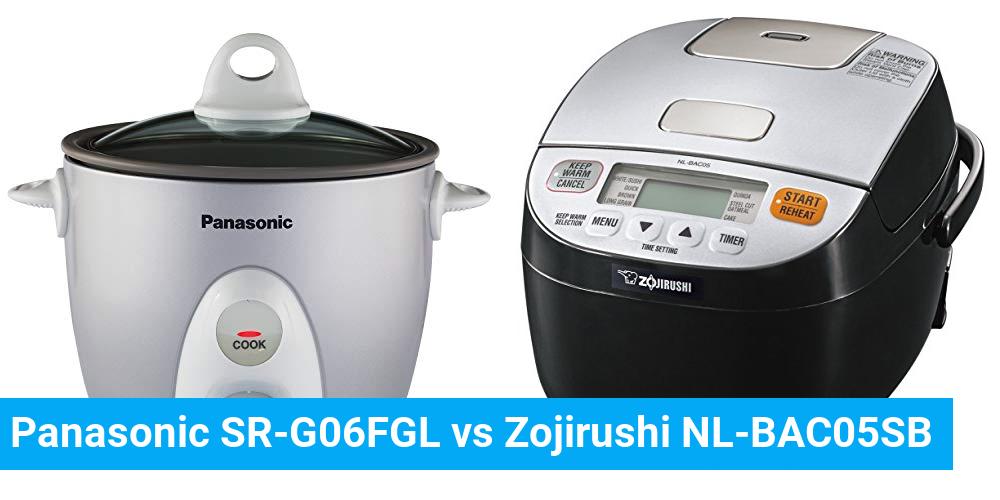 Panasonic SR-G06FGL vs Zojirushi NL-BAC05SB