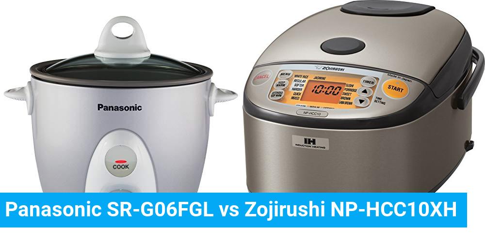 Panasonic SR-G06FGL vs Zojirushi NP-HCC10XH