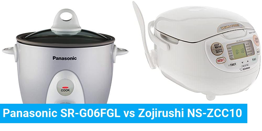 Panasonic SR-G06FGL vs Zojirushi NS-ZCC10