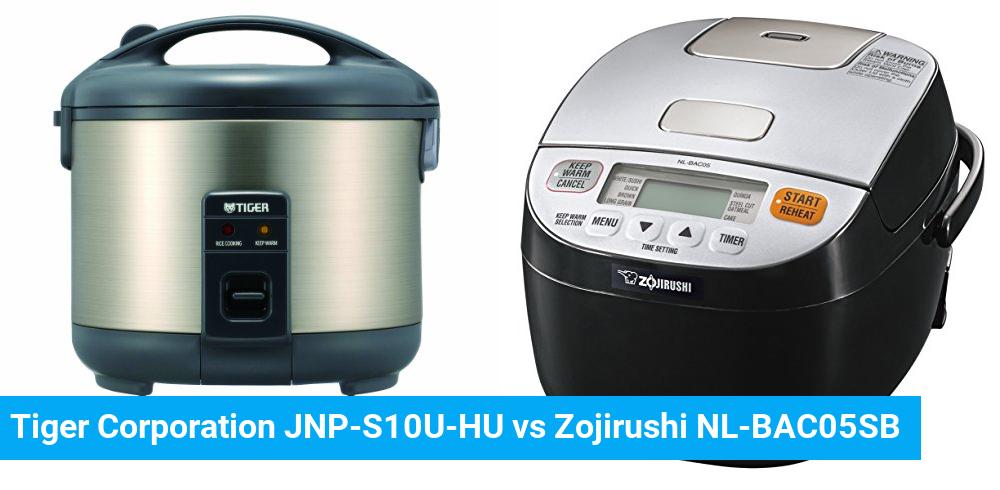 Tiger Corporation JNP-S10U-HU vs Zojirushi NL-BAC05SB