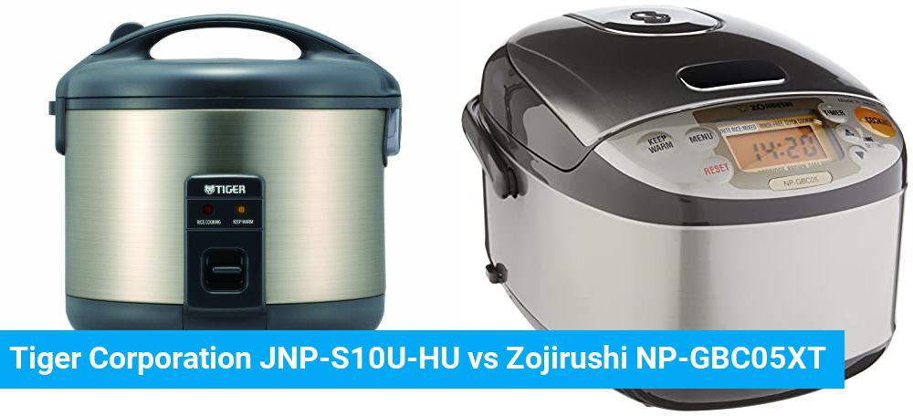 Tiger Corporation JNP-S10U-HU vs Zojirushi NP-GBC05XT