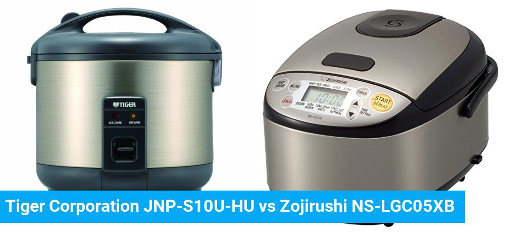 Tiger Corporation JNP-S10U-HU vs Zojirushi NS-LGC05XB