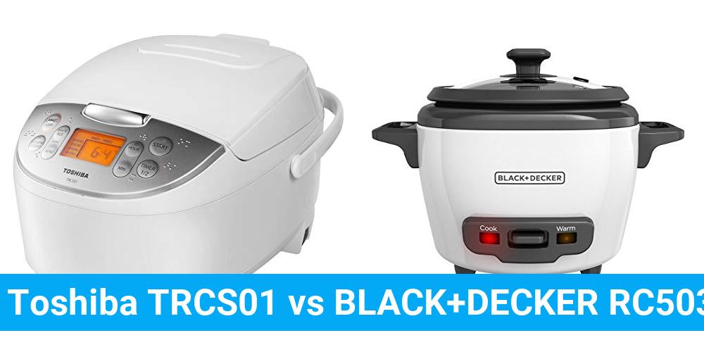 Toshiba TRCS01 vs BLACK+DECKER RC503
