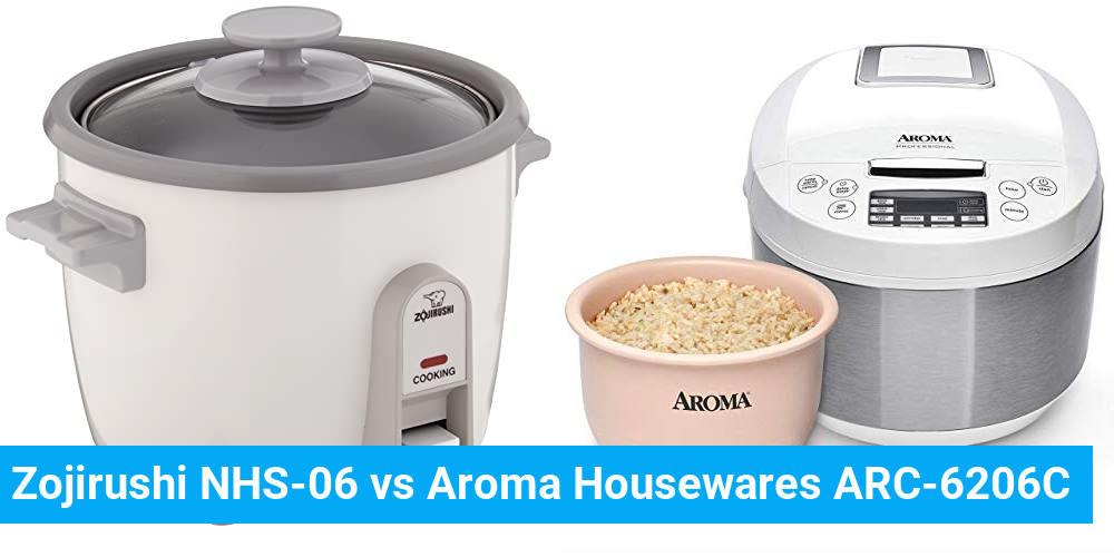 Zojirushi NHS-06 vs Aroma Housewares ARC-6206C
