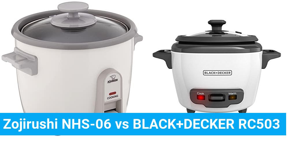 Zojirushi NHS-06 vs BLACK+DECKER RC503