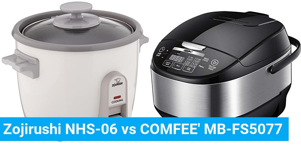 Zojirushi NHS-06 vs COMFEE' MB-FS5077