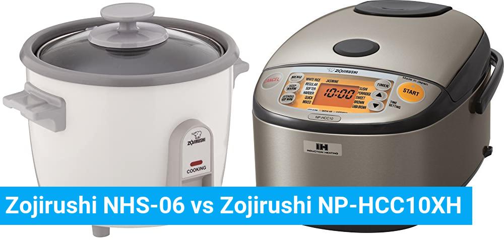 Zojirushi NHS-06 vs Zojirushi NP-HCC10XH