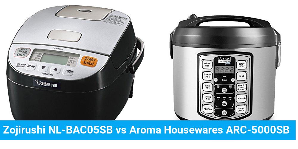 Zojirushi NL-BAC05SB vs Aroma Housewares ARC-5000SB