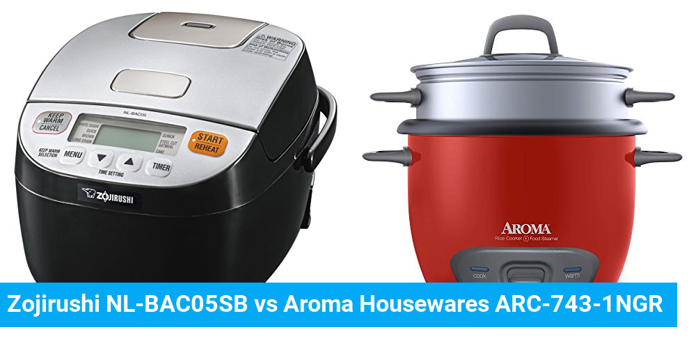 Zojirushi NL-BAC05SB vs Aroma Housewares ARC-743-1NGR