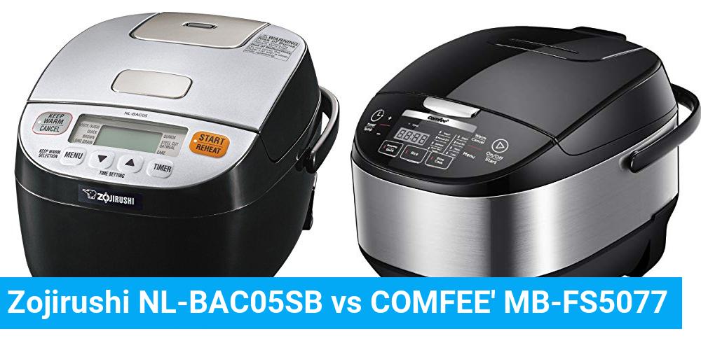 Zojirushi NL-BAC05SB vs COMFEE' MB-FS5077