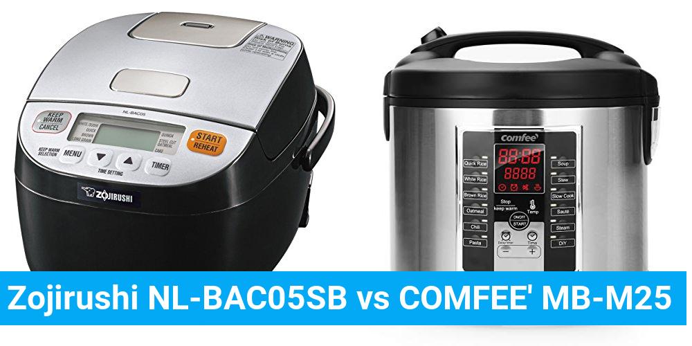 Zojirushi NL-BAC05SB vs COMFEE' MB-M25