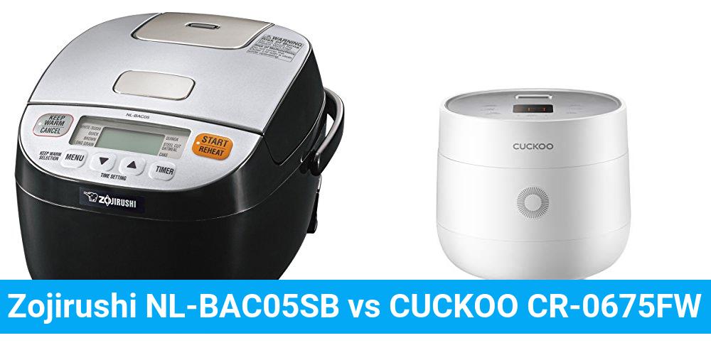 Zojirushi NL-BAC05SB vs CUCKOO CR-0675FW