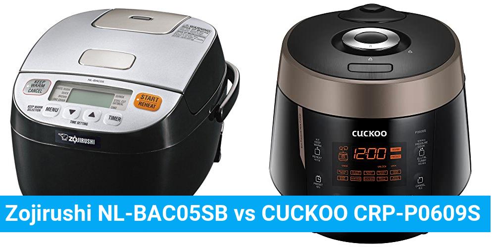 Zojirushi NL-BAC05SB vs CUCKOO CRP-P0609S