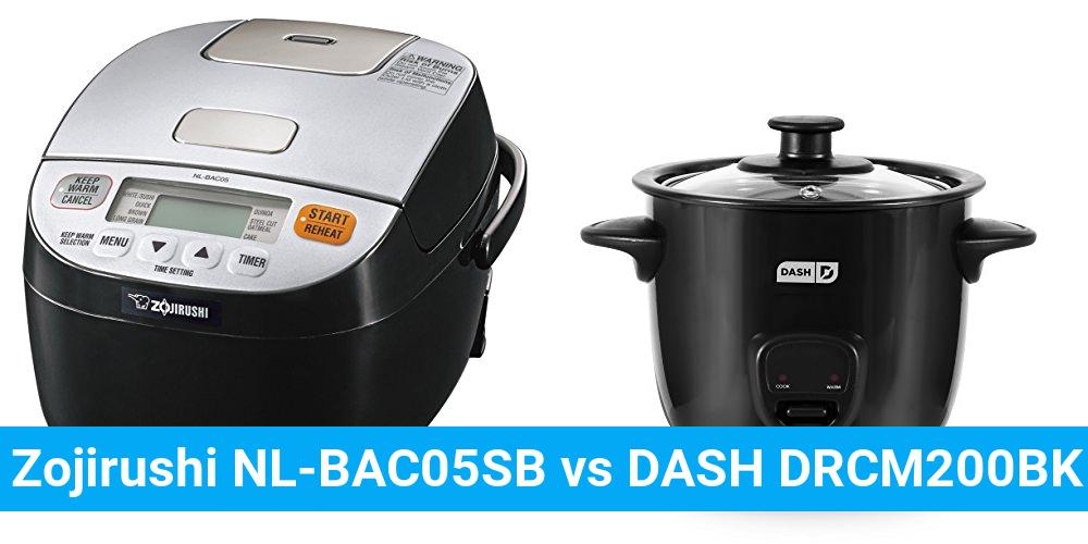 Zojirushi NL-BAC05SB vs DASH DRCM200BK