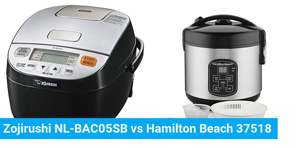 Zojirushi NL-BAC05SB vs Hamilton Beach 37518