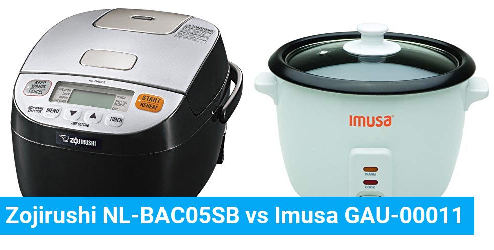 Zojirushi NL-BAC05SB vs Imusa GAU-00011