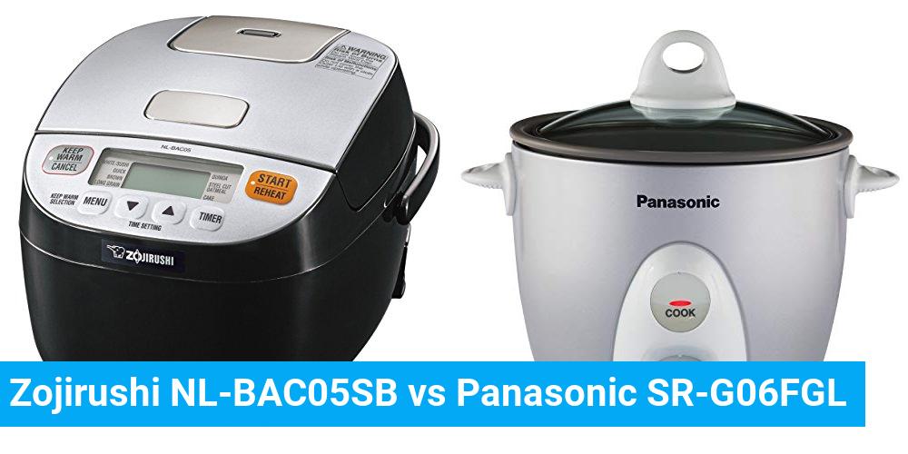 Zojirushi NL-BAC05SB vs Panasonic SR-G06FGL