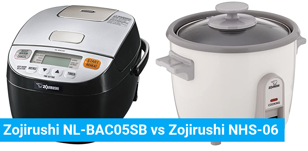 Zojirushi NL-BAC05SB vs Zojirushi NHS-06