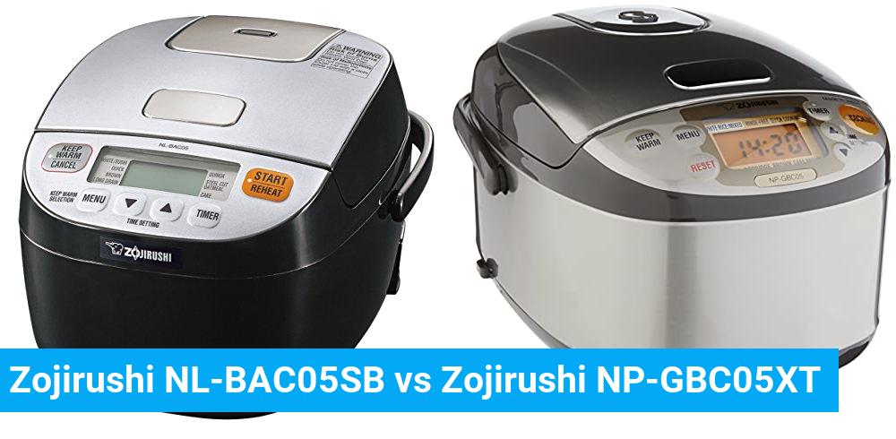 Zojirushi NL-BAC05SB vs Zojirushi NP-GBC05XT