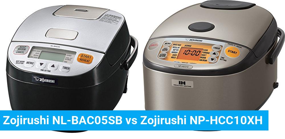 Zojirushi NL-BAC05SB vs Zojirushi NP-HCC10XH