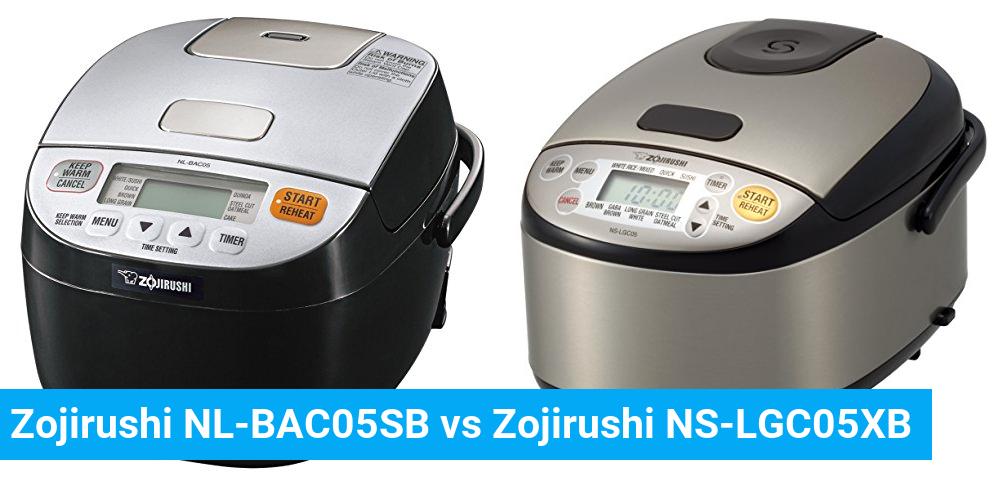 Zojirushi NL-BAC05SB vs Zojirushi NS-LGC05XB