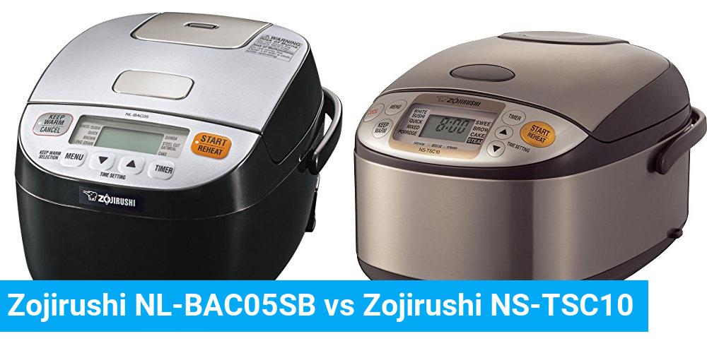 Zojirushi NL-BAC05SB vs Zojirushi NS-TSC10