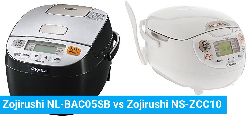 Zojirushi NL-BAC05SB vs Zojirushi NS-ZCC10
