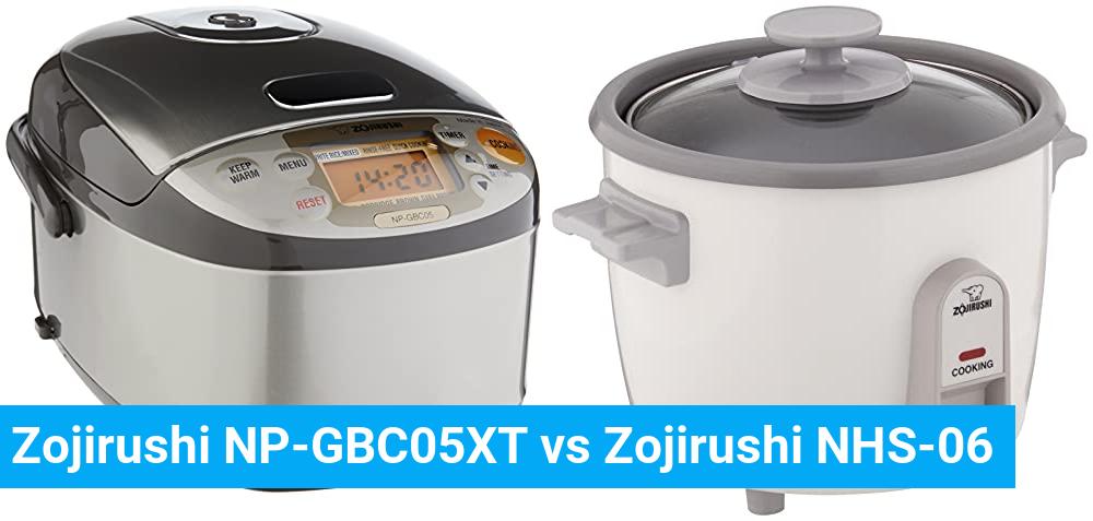 Zojirushi NP-GBC05XT vs Zojirushi NHS-06