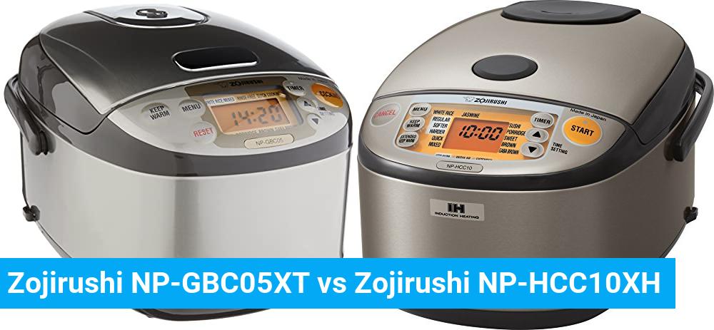 Zojirushi NP-GBC05XT vs Zojirushi NP-HCC10XH