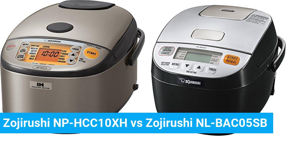 Zojirushi NP-HCC10XH vs Zojirushi NL-BAC05SB