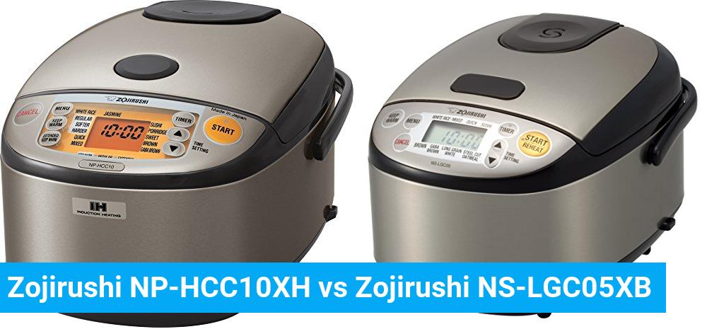 Zojirushi NP-HCC10XH vs Zojirushi NS-LGC05XB
