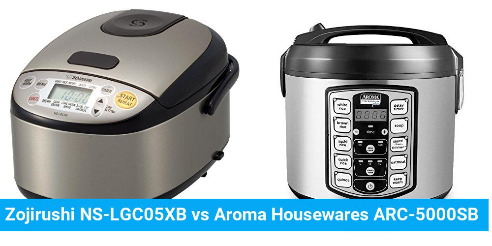 Zojirushi NS-LGC05XB vs Aroma Housewares ARC-5000SB