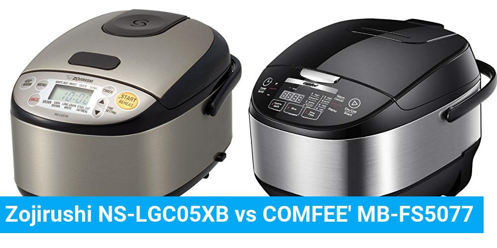 Zojirushi NS-LGC05XB vs COMFEE' MB-FS5077