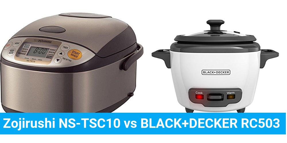 Zojirushi NS-TSC10 vs BLACK+DECKER RC503