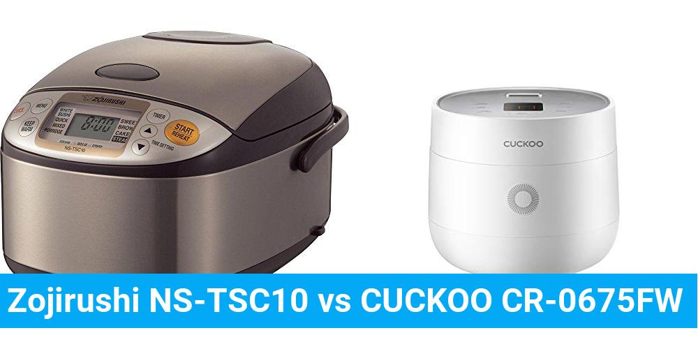 Zojirushi NS-TSC10 vs CUCKOO CR-0675FW