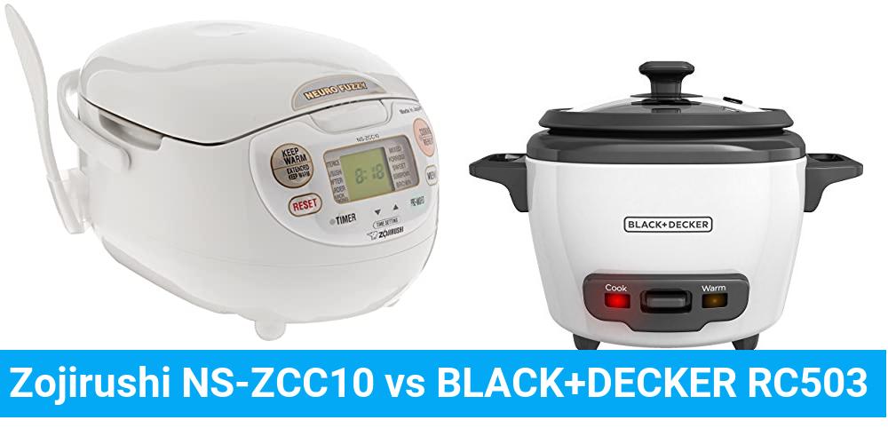 Zojirushi NS-ZCC10 vs BLACK+DECKER RC503