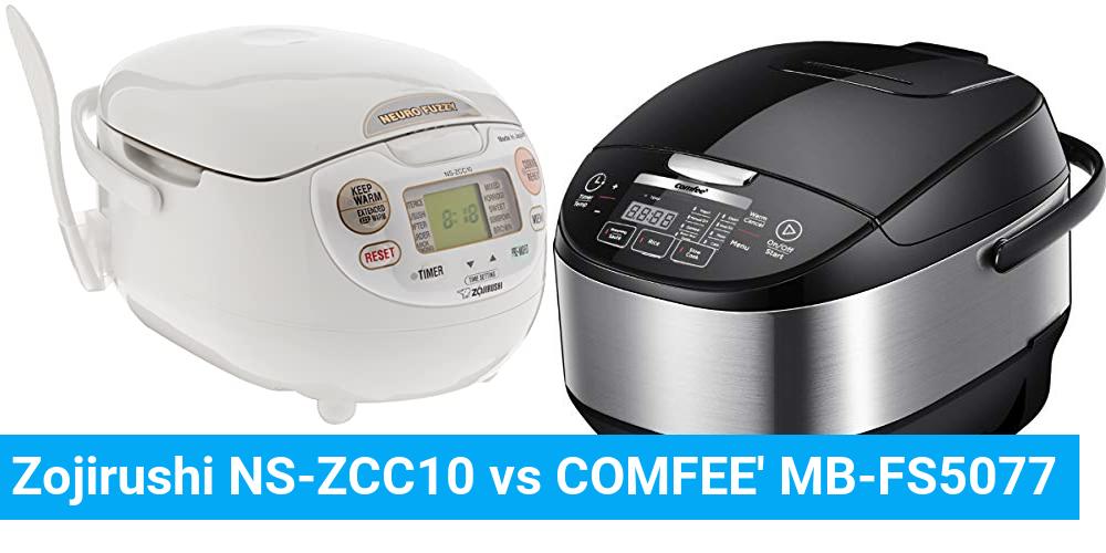 Zojirushi NS-ZCC10 vs COMFEE' MB-FS5077