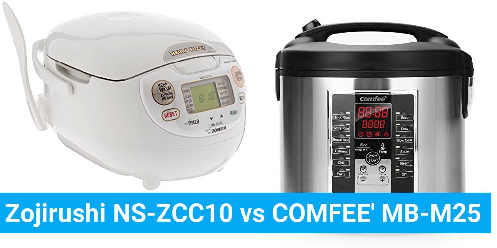Zojirushi NS-ZCC10 vs COMFEE' MB-M25