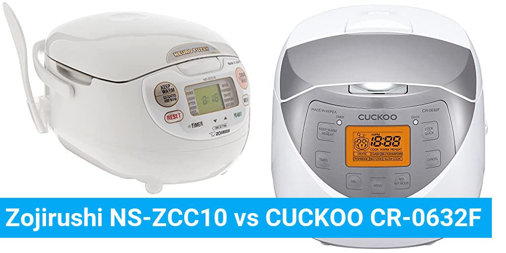 Zojirushi NS-ZCC10 vs CUCKOO CR-0632F