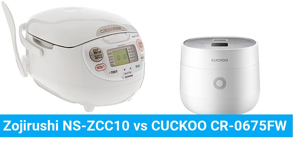 Zojirushi NS-ZCC10 vs CUCKOO CR-0675FW