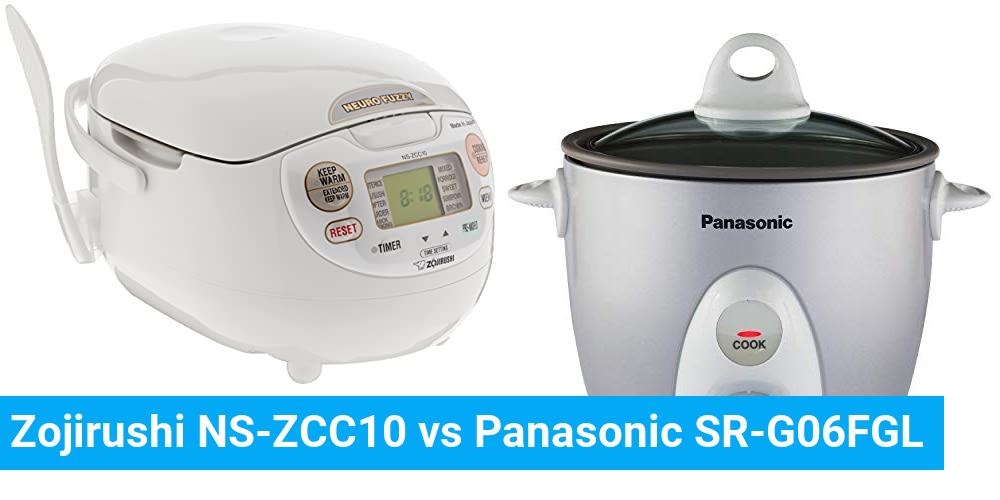 Zojirushi NS-ZCC10 vs Panasonic SR-G06FGL