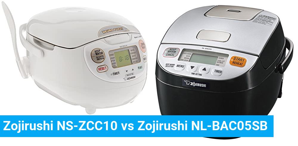 Zojirushi NS-ZCC10 vs Zojirushi NL-BAC05SB