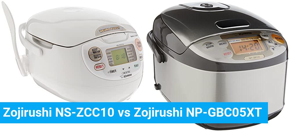 Zojirushi NS-ZCC10 vs Zojirushi NP-GBC05XT