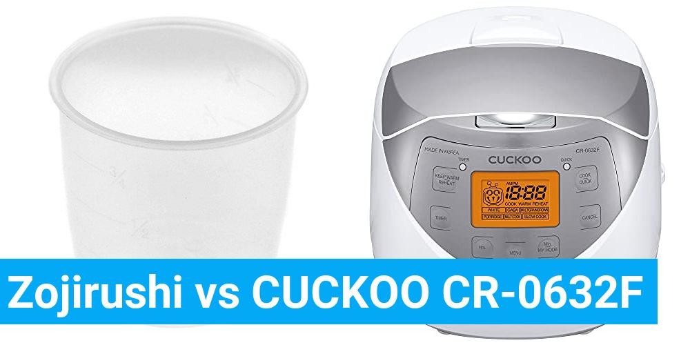 Zojirushi vs CUCKOO CR-0632F